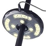 CHINLY LED Schirmleuchte Wiederaufladbare 28 LEDs 3 Level Dimming-Modi, Lade-Umbrella Pole Light fr...