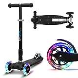 fun pro Two - ab etwa 5 Jahre, bis 80KG Gewicht, der sichere Premium Kinder Roller, LED Räder,...