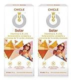 Wug Solar Chicle Ideal Bräune, Vitamine C, D und E, Minzgeschmack, 2er Pack (2 x 10 Stück)
