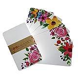 MOVKZACV Blanko-Grußkarten – Schöne Blumen Grußkarten – Perfekt für Geburtstagseinladungen,...