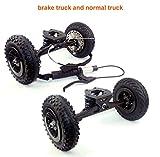 L-faster Mountainboarding Skateboard Trucks Offroad Boarding Truck Mit Bremse All Terrain Skateboard...