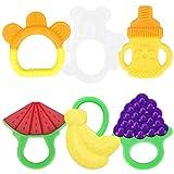 yidenguk Baby Zahnen Beißringe, Natürlicher Kühlbeißring, Obst Silikon-Zehne für Kleinkind...