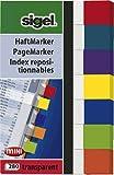 SIGEL HN677 Haftmarker Transparent, 7 Farben, 280 Streifen im Format 12 x 50 mm, aus Papier