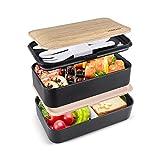 homeasy Bento Box Erwachsene Unterteilung Design Brotdose für die Arbeit und Schule...