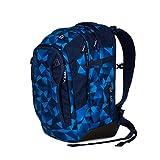 Satch match Schulrucksack - ergonomisch, erweiterbar auf 35 Liter, extra Fronttasche - Blue Crush -...