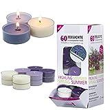 Smart Planet® Kerzen Ambiente - 60er Duftkerzen Set Duft Teelichter Vanille Lavendel Duftteelichter...
