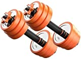 BATOWE 20kg Einstellbare Fitness-Hanteln-Set einstellbare Fitness-Hantel-Set Barbell Hebestecker...
