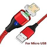 Vialex Magnet Kabel,magnetisches Micro-USB-Schnell Ladekabel zum Aufladen der Datenübertragung,...