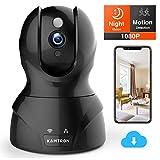 KAMTRON WLAN IP Kamera FHD Überwachungskamera mit 350°/100°Schwenkbar,Home und Baby Monitor mit...