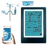 LJPzhp Multifunktionales Hygrometer WiFi Wetterstation LCD-Thermometer-Hygrometer Regendruck...