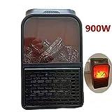 GU-XIA 900W tragbare Mini-Elektro-Heizung 220V Desktop-Heizung Warmluft-Ventilator Home Office Wand...