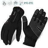 Fahrradhandschuhe männer winter wasserdicht Fahrrad Handschuhe Herren Damen Touchscreen Handschuhe...