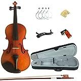 Esound 1/8 MP01B Massivholz Firnis Violine fr Anfnger mit Hartschalenkoffer, Schultersttze, Bogen,...
