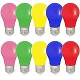 10er Set farbige LED Leuchtmittel Birnenform 1.5W E27 gemischt Rot Gelb Grün Blau Rosa, farbige...