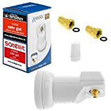 Anadol Gold Line Digital Single-LNB [ Test 2X SEHR GUT *] - 0.1dB Rauschmaß - Wetterschutz LNB -...