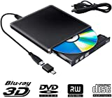 Externes 3D CD DVD Laufwerk,USB 3.0 mit Type-C DVD/CD Brenner und -Lesegert Tragabar Externe DVD/CD...