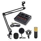 FHISD USB-Kondensator-Mikrofon-Kit Einstellbarer Mic-Suspensionsschere-Arm, Metallschockmontage Und...
