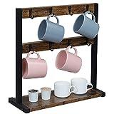 OROPY Vintage Tassenhalter mit 16 Haken, Kaffeetassenständer für Küchentheke, Esstisch,...