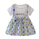 INLLADDY Infant Baby Mädchen Kleid Sommer Cool Kurzarm Cartoon Obst Tierdruck Süß Prinzessin...