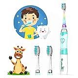 Elektrische Zahnbürste Kinder ab 4+ Jahren, SEAGO Timer Kinderzahnbürste Elektrisch Batterie...