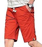 Gocgt Herren Causal Beach Shorts mit elastischem Bund Kordelzug Leichte Kurze Hose Gr. M, 1
