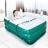 Aufblasbare Badewanne für Erwachsenen, Faltbare SPA Wanne, Einweichbadewanne mit Kopfstütze