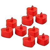 BESTOYARD LED Kerzen Flammenlose Wasserdicht Herz Form Teelicht Kerzen für Weihnachten Hochzeit...