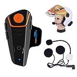 Fodsports BT-S2 Bluetooth Motorrad Intercom Headset Wasserdicht Helm Gegensprechanlage Wireless...