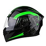 YHDQ XL 61–62 cm Modular Flip Double Sonnenblende für Motorrad Bike Full Face ECE-geprüft EU...