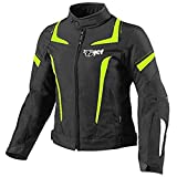 Jet Motorradjacke Damen Mit Protektoren Textil Wasserdicht Winddicht (2XL (EU 42-44), Fluro)