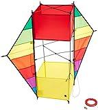 HQ 106373 - F-Box Beach Rainbow Kastendrachen Einleiner, ab 8 Jahren, 85x100cm, inkl. 17kp...