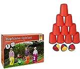 Idena 40074 Geschicklichkeitsspiel Eierlaufen, mit 4 Eiern und 4 Löffeln, perfekt für drinnen und...
