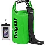 Unigear Dry Bag, 2L/5L/10L/20L/30L/40L, wasserdicht Taschen mit Handytasche und Gurte für Boot und...