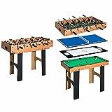 GXK 4 in 1 Multi Spieltisch Tischfussball Tischkicker Billard Tischtennis Hockey
