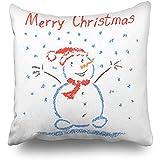 GodYo Kissenbezge 1 Pack mit Wachsmalstift wie Kinder zeichnen Kinder Frohe Weihnachten Feiertage...