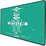 Mouse Pad Gaming Functional Quote Thick Waterproof Desktop Mouse Mat The Best Way to Predict Your...