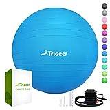 Trideer Dicker Anti-Burst Gymnastikball inkl Ballpumpe, Robuster 700kg Maximalbelastbarkeit Sitzball...
