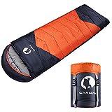 CANWAY Schlafsack Schlafsäcke Mumienschlafsack aus Baumwolle als Füllstoff wasserabweisend für...