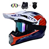 DNACC Jugend Motocross Helm Kinder-Cross Helme 4 Luftaustritt Off Road Schutzhelm ATV MTB Downhill...