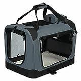 YJYDD Hundebox Hundetransportbox Transportbox Reisebox Katzebox Farbig (Color : Grau, Size : M 60 *...