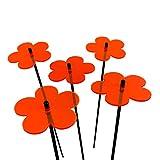 SunCatcher SONNENFÄNGER 5er Set Blumen, 10cm Durchmesser und 50cm hoch mit Schwingstab, leuchtende...