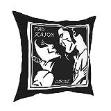 Mad Season Quadratisches Plüschkissen Bett Bequemes exquisites Bett Kissen Einsatz Waschbar...