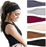 TERSE Stirnbänder Damen Stirnband Sport Haarbänder Elastisch Breit Haarreife für Frauen Yoga...
