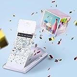 «BOOM!» Explosion Grußkarte - Alles Gute zum Geburtstag! Geburtstagskarte mit Konfetti Wow-Effekt...