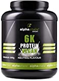 PROTEINPULVER Neutral VEGAN - 6K Protein 1 Kg - 82,9% Eiweiß-Shake ohne Süßstoff - zuckerfrei /...