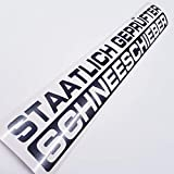 folien-zentrum 1 x Staatlich geprfter Schneeschieber Metallic Anthrazit 55x9,5 cm Aufkleber Shocker...