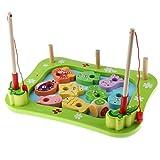 SaniMomo Angeln Set Magnetic Pole Holzbrett Pretend Play Vorschule Spielzeug