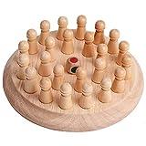 Cestbon Hlzerne Runde Memory Match Stick Schachspiel Frhen Pdagogischen Blcke Gedchtnis Training...
