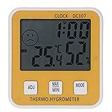 LJPzhp Multifunktionales Hygrometer Große DC107 Digital LCD Innen...
