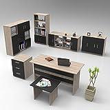 Yurupa Office Set Bro Mbel Set Schreibtisch, Bcherregal, Kaffeetisch, Unterschrank fr Arbeitzimmer,...
